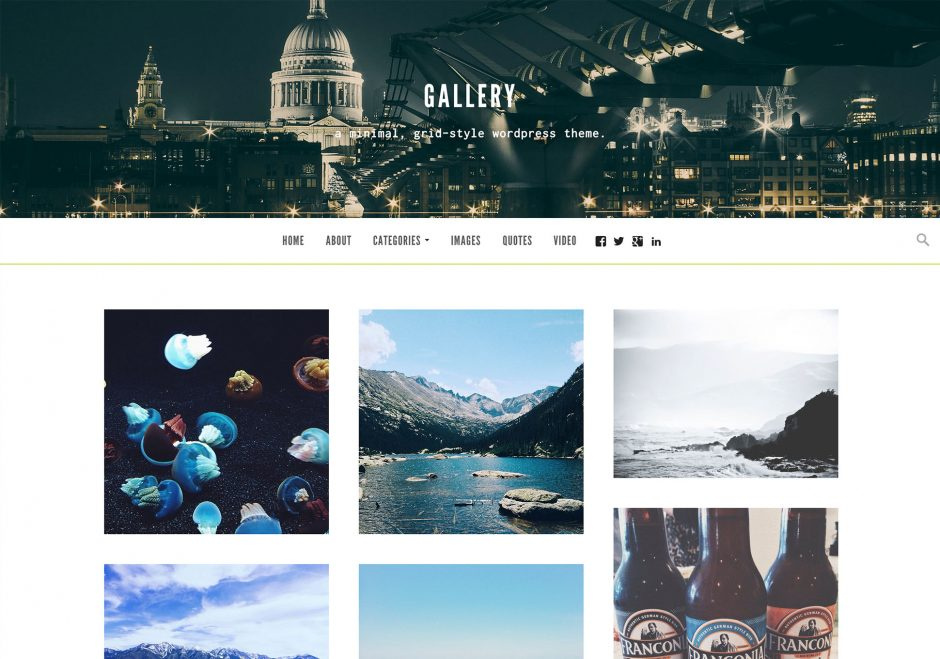 Gallery WordPress Theme for Bloggers, Photographers, and People Too!