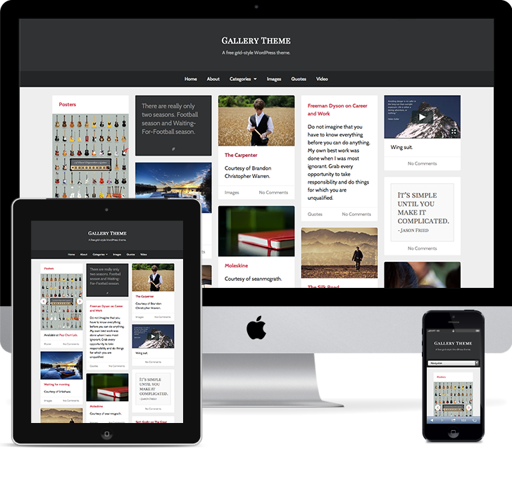 Free Theme Launch: Gallery - UpThemes