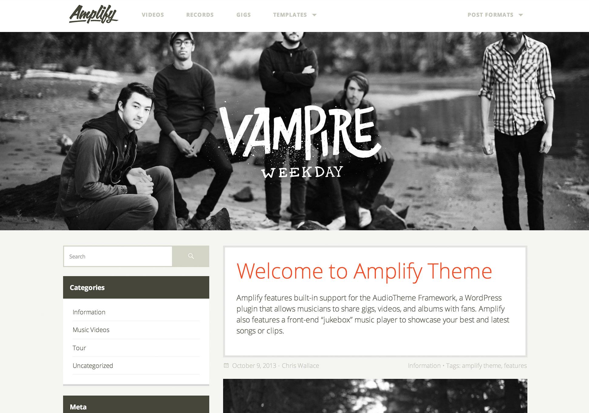 Amplify Theme - UpThemes