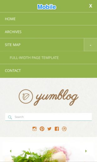 Yumblog - Mobile Menu