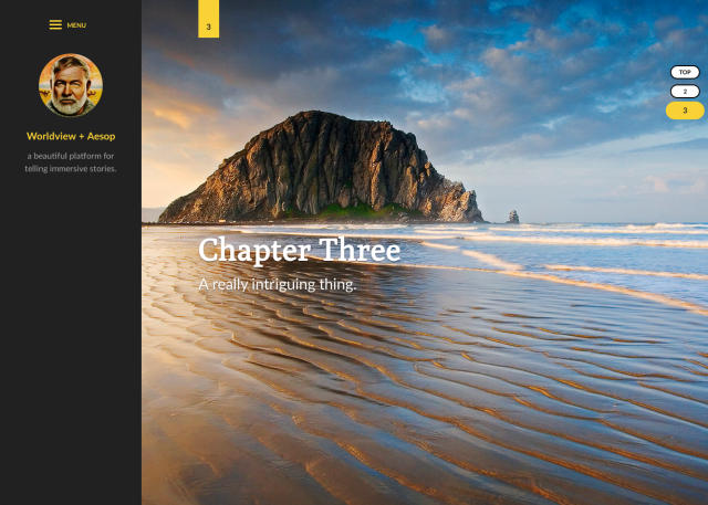 Chapter components allow you to easily break up a story into multiple chapters.