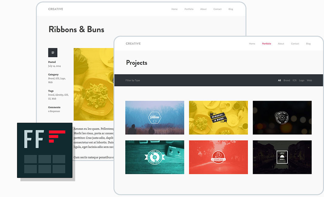 Creative Theme for WordPress-Powered Portfolios