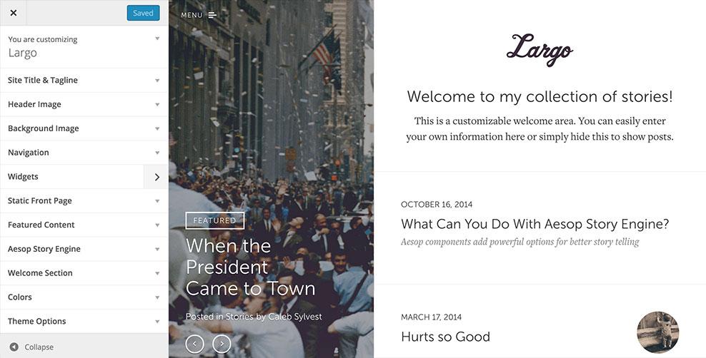 Custom Design Largo WordPress Theme