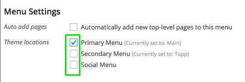 DM menu settings